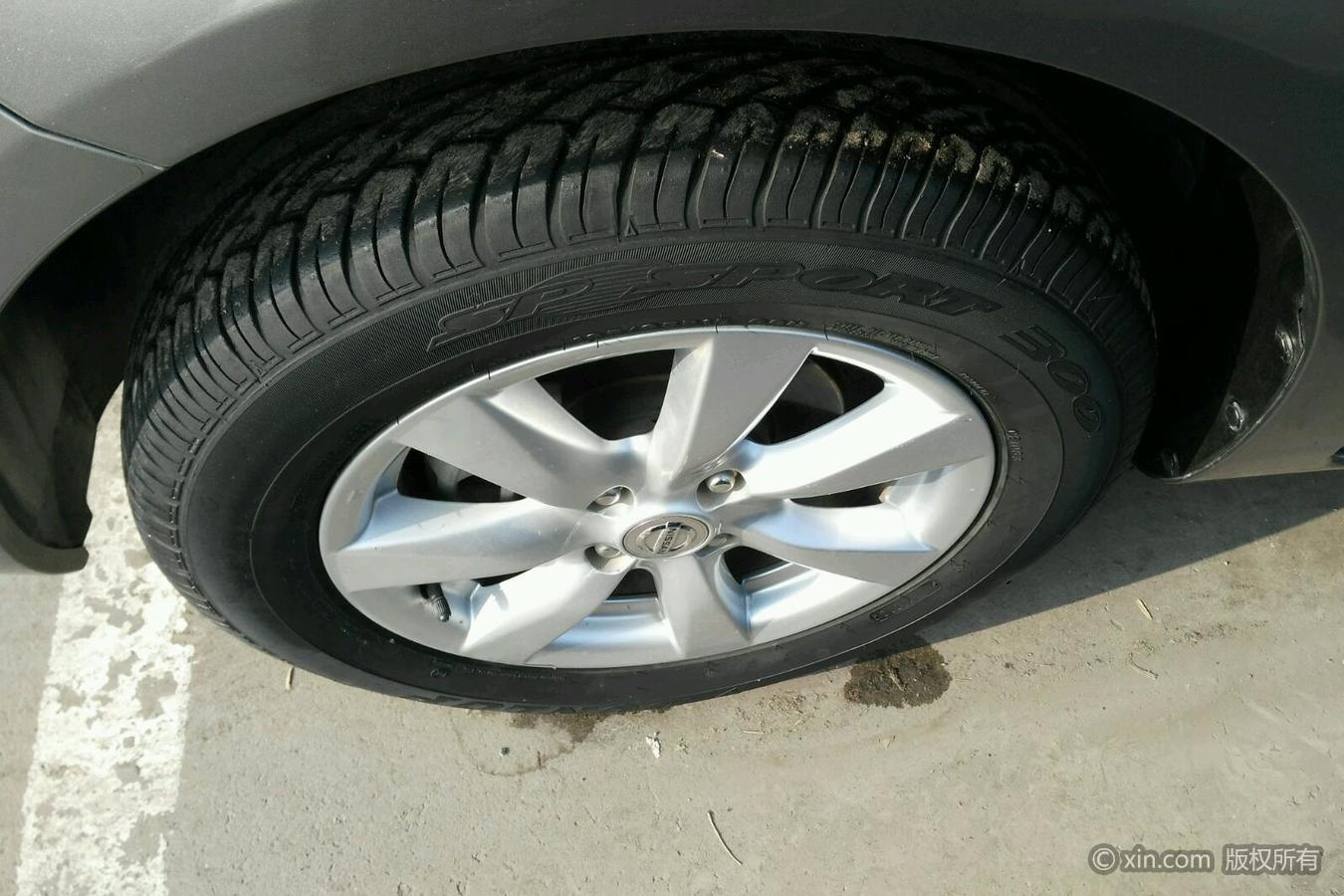 日产阳光左前轮胎