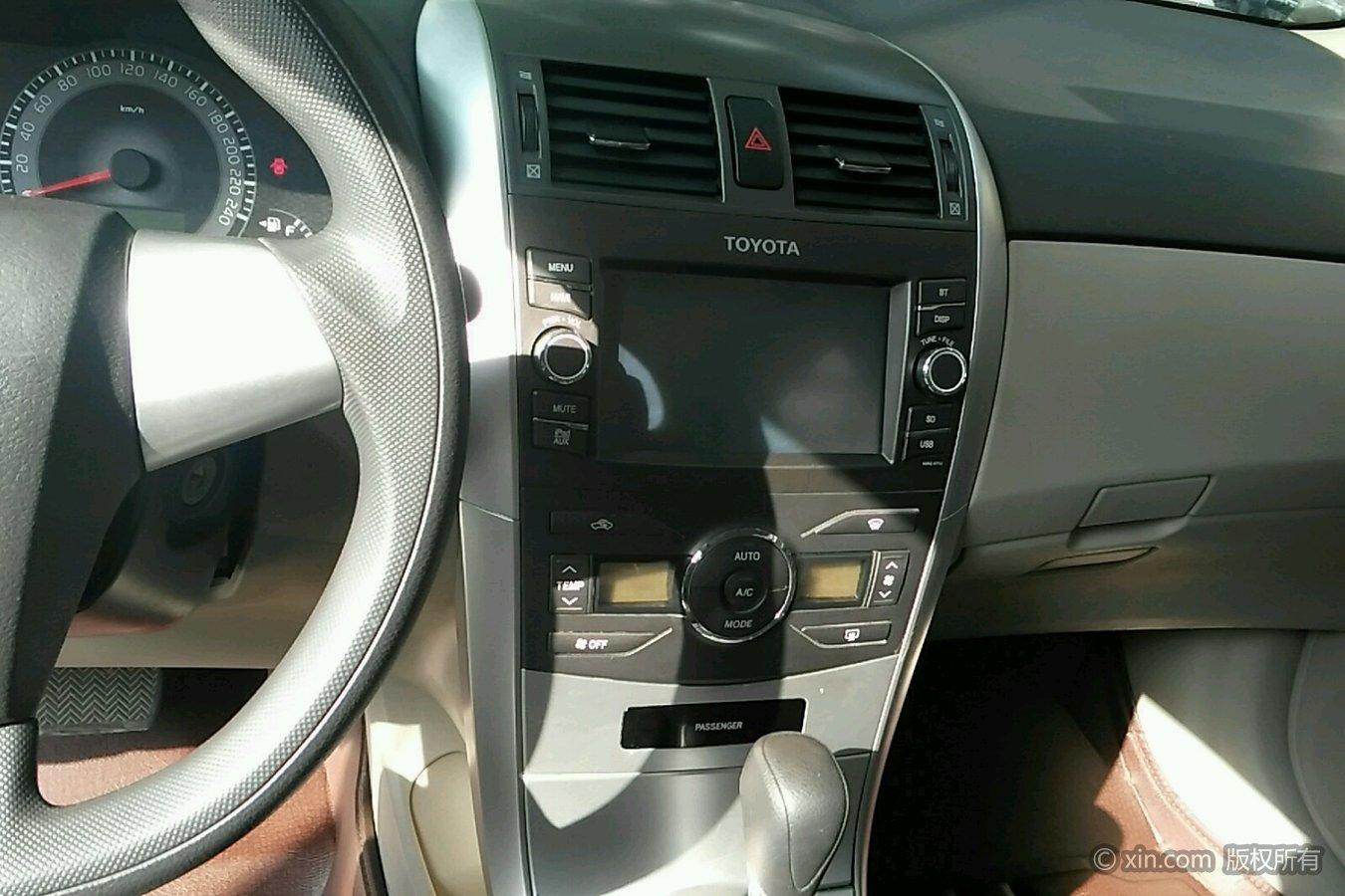 丰田卡罗拉空调及多媒体调节区